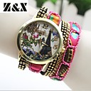 Женская мода Простота башня Кварц Текстиль аналоговые наручные часы (разных цветов)