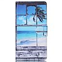 Море кокосовых пальм шаблон PU кожаный чехол для телефона Sony M4