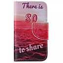 LOVE Pattern Cell Phone Leather For iPhone 4/4S