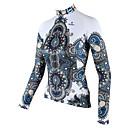 ilpaladinoSport Женщины Длинные рукава Велоспорт Джерси Новый стиль CX601 белых одеждах 100% полиэстер
