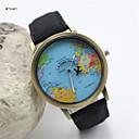 Женская мода Кожаный ремешок кварцевые наручные часы Anolog (разных цветов)