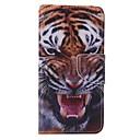 tigre pintado caja del teléfono de la PU para Huawei P9 / p9lite