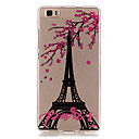 Transparent Colored Transmission Tower Pattern TPU Soft Case Phone Case For Huawei P8 Lite