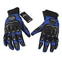 Gants de moto Doigt complet Nylon M Bleu