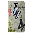 Butterfly PU Leather Flip Case with Magnetic Snap and Card for Huawei Ascend P9/P8/P8 LITE/P7/Honor 6/G6/Y550