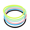 Transparent Hygienic Elastic Rubber Hair Band(Random Color)