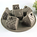 Kreative Küche Gadget / Beste Qualität / Gute Qualität Silicone Cake Molds 6 Even House A Microwave Oven Tool Silikon 26*26*6.3