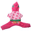 honden Hoodies Roze Hondenkleding Winter / Lente/Herfst Letter & Nummer Casual/Dagelijks /