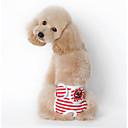 honden T-shirt / Pyjama Rood / Blauw / Zwart Hondenkleding Zomer / Lente/Herfst Streep Casual/Dagelijks /