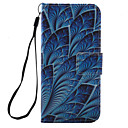 For iPhone 7 7 Plus 6s 6 Plus SE 5S Case Cover Blue Leaves Pattern PU Leather Material Card Stent