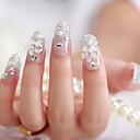 a manicure noiva cortar um pedaço de unhas falsas lindo remendo goma