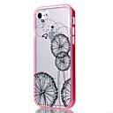 Für iPhone 7 Hülle / iPhone 6 Hülle / iPhone 5 Hülle Transparent / Muster Hülle Rückseitenabdeckung Hülle Blume Weich TPU AppleiPhone 7