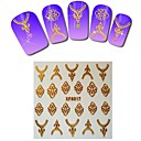 1sheet  Gold Nail Stickers XF6017