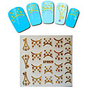 1sheet  Gold Nail Stickers XF6020