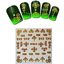1sheet  Gold Nail Stickers XF6012