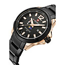 Men's Dress Watch / Fashion Watch Japanese Quartz Calendar / Water Resistant Moon Phase Stainless Steel Band