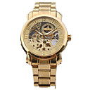 WINNER High-End Swiss Men's Fashion Personality All Steel Hollow Out Automatic Mechanical Watch
