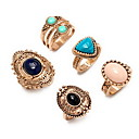 Ring Euramerican Daily Jewelry Alloy Ring 1set,7 Gold