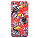 For Apple iPhone 7 7 Plus 6S 6 Plus Case Cover Toucan Pattern Painted Relief Luminous Touch Skin Care PC Material Phone Case