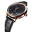 Men's Fashion Watch Chinese Quartz Leather Band Black