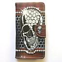 Fall für für Samsung Galaxy Grand Prime Core Prime Case Cover Kartenhalter Brieftasche mit Standflake Muster Ganzkörper Fall Schädel harte