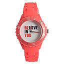 Damen-Mode-Uhr Japanische Quarz / Silikon-Band Casual Red