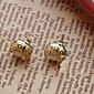 Cute Little Earrings Small Beetle Beetle Love Fashion Jewelry Pearl Earrings E54
