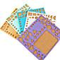 Template For Make Quilling Paper DIY Craft Art Decoration (Random Color,21x18cm)