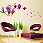 Natural Romantic Mangnolia PVC Wall Stickers Wall Art Decals