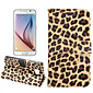 PU Leather and Plastic Body Leopard Grain Design for Samsung Galaxy S6 (Assorted Colors)