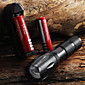 LED Flashlight E17 CREE XM-L T6 2000 LM High Power Zoomable  Torch light (1x18650) + 2*Battery + Charger