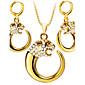 Schmuck Halsketten / Ohrringe Halskette / Ohrringe / Set Modisch Hochzeit / Party / Alltag / Normal 1 Set Damen Goldfarben