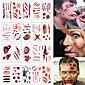 20pcs Halloween Zombie Scars Tattoos With Fake Scab Blood Special Fx Costume Makeup