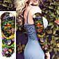 1Pcs Halloween Colorful Skull Large Temporary Tattoos Full Arm  Cool Tattoo  Designs Flash Tattoo Stickers